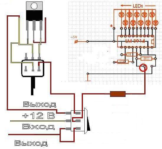 Вот схема включая выключатель.