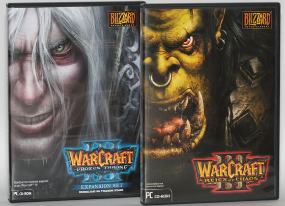 Warcraft III Reign of Chaos and Frozen Throne в коробках лицензия!