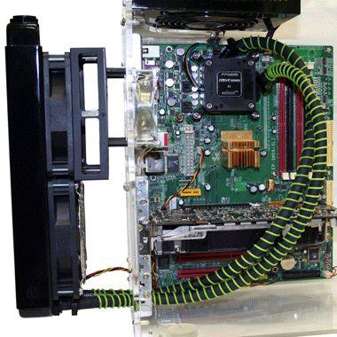 Вентилятор, установленный на Radbox, снабжен переходниками на 7 и 5 В. При их...  Система включает в себя всё тот же...