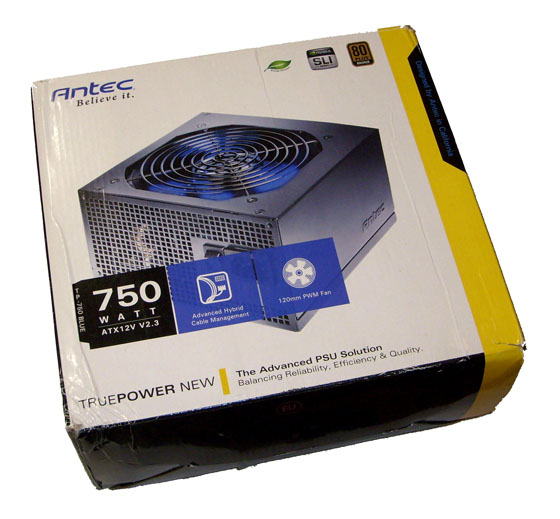 Коробка Antec TruePower 750 Blue