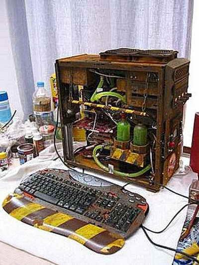 Нетривиальная работа, модифицирован не только корпус, но и клавиатура