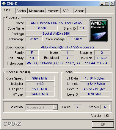 Overclocking AMD phenom II