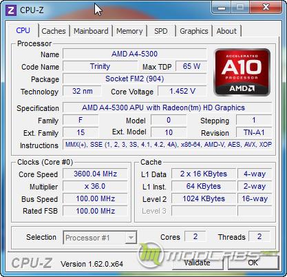 AMD A10-5800K и AMD A4-5300