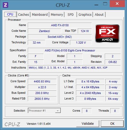 Процессор, установленный на тестовом стенде Modlabs