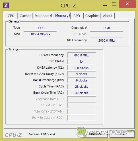 Память, установленная на тестовом стенде Modlabs