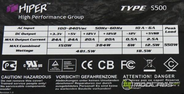 hyper s500 label
