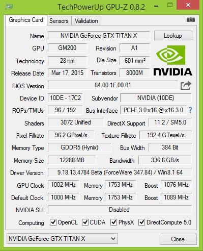 GPU-Z Titan X