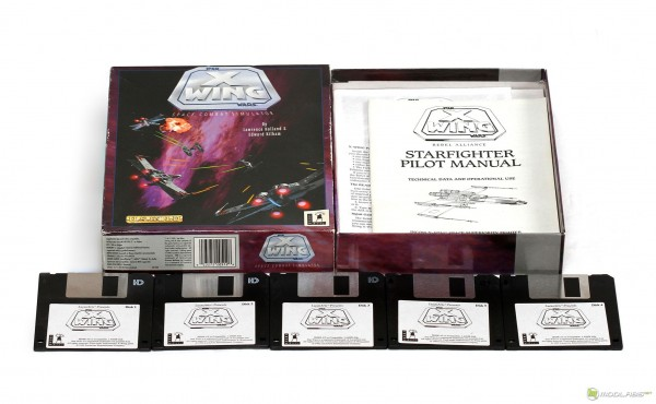 Компьютерная игра X-Wing. Коробочная версия, 5 дискет типоразмера 3,5'