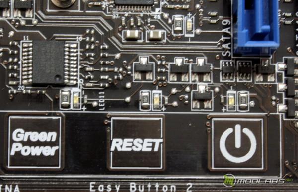 сенсорные кнопки Power и Reset