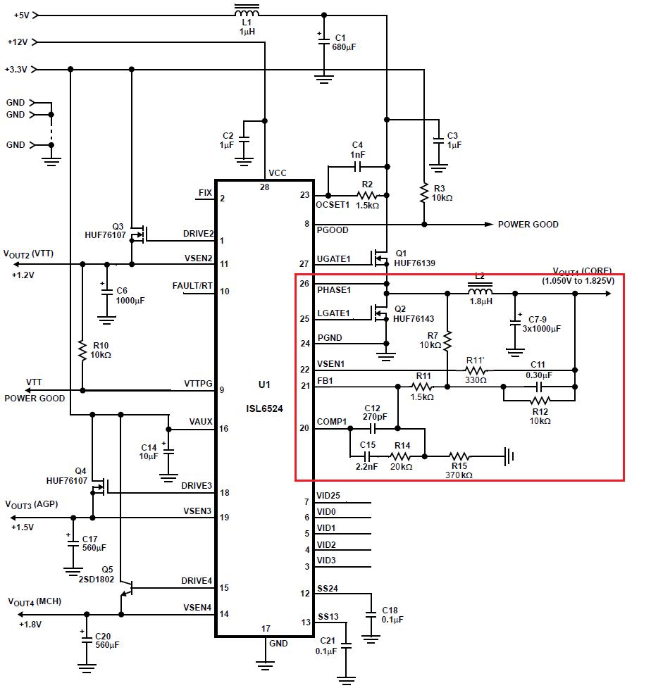 Номиналы резисторов указаны реальные.  Обратная связь (ОС) в данной реализации осуществляется по току.