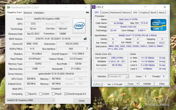 Конфигурация компьютера с Intel HD graphics