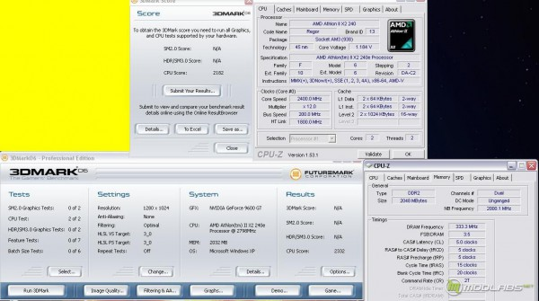 Athlon x2 240e@ 2400MHz 3Dmark06 - CPU