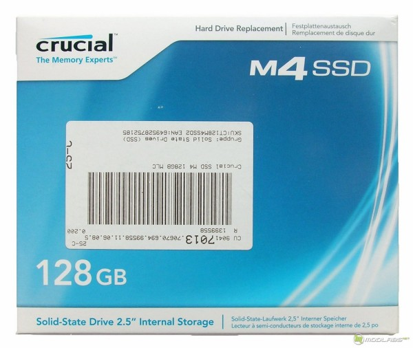 Crucial m4 128Gb - box - front
