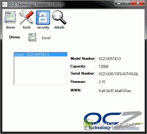 OCZ Toolbox - Drives