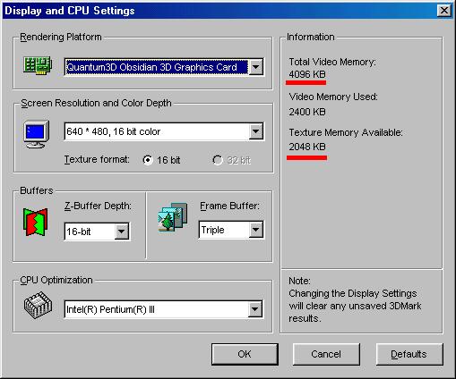 Advanced SST SLI 3DMark2000 settings