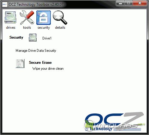 OCZ Toolbox - Security