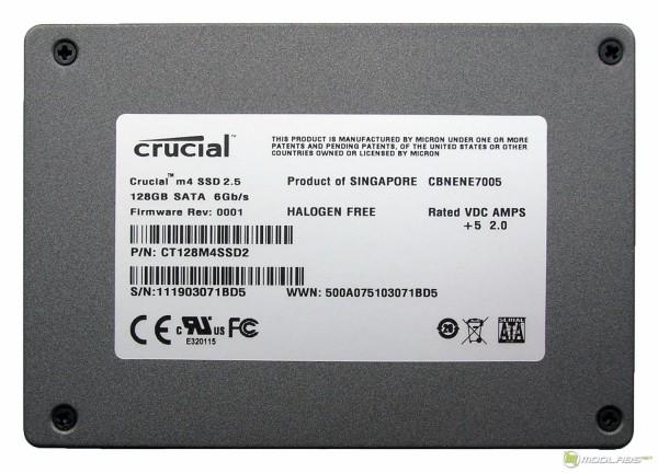 Crucial m4 128Gb - SSD - back