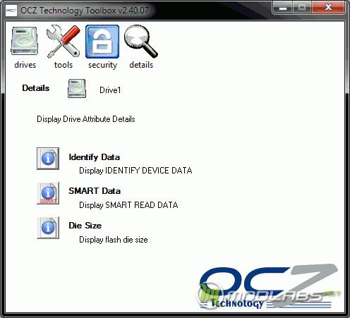 OCZ Toolbox - Details