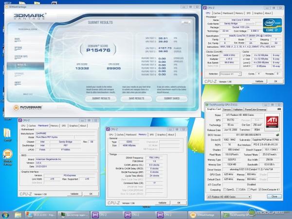 Обзор Sapphire Pure Black P67 Hydra - Тест 3Dmark Vantage - Radeon HD4850 hydra