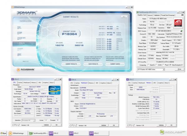 Обзор Sapphire Pure Black P67 Hydra - Тест 3Dmark Vantage - Radeon HD4850 hydra overclocked - результат разгона
