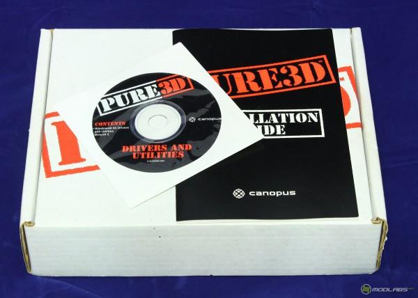 Коробка от 3D ускорителя Canopus Pure3D и комплект
