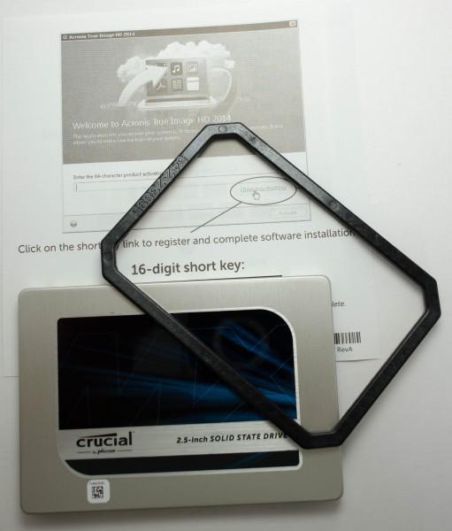 Crucial MX200 250 ГБ - комплектация