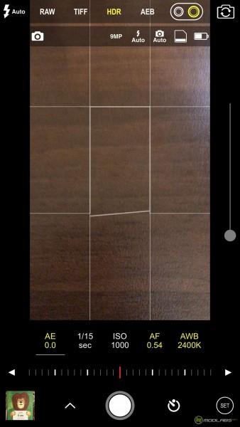 Программа ProCam на iPhone 7 Plus