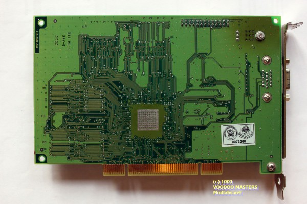 STB 3dfx Voodoo3 3000 Rev D 16MB SGRAM 5.5ns 166MHz PCI - Product of Mexico - 0700 - 210-0382-004