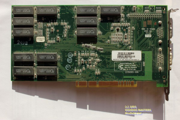 DIAMOND MONSTER 3D II 12MB Rev A 100MHz - Made in Taiwan - 2498