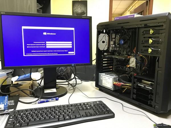 Компьютер на базе Core i5 7400 в сборе