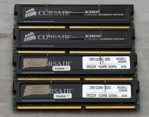 Память Corsair CMX1024RE-3200 (ECC, Reg., DDR400)