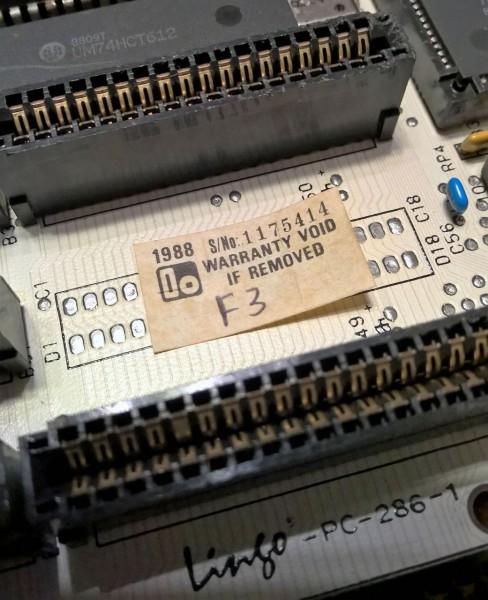 Linso (Lingo) PC-286-1 - белая материнская плата для 80286