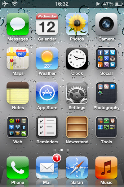 Интерфейс iOS