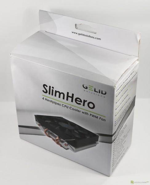 Кулер GELID SlimHero - коробка, вид спереди