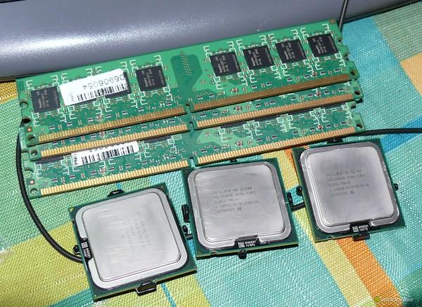 Процессоры intel celeron e1200 и модули непримечательной памяти