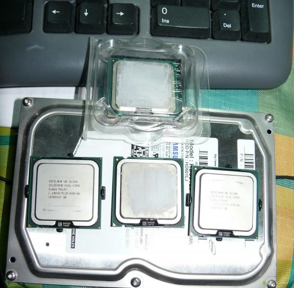 Процессоры intel celeron e1200 и core 2 duo e4400 на жестком диске Samsung 501LJ