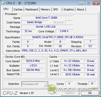 Обзор Sapphire Pure Black P67 Hydra - разгон процессора по множителю до 5329 МГц