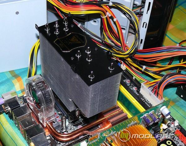 Обзор GlacialTech F101, GlacialTech F101 на материнской плате