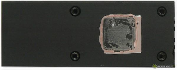 Обзор Sapphire Pure Black P67 Hydra - нижняя сторона радиатора, охлаждающего гидру