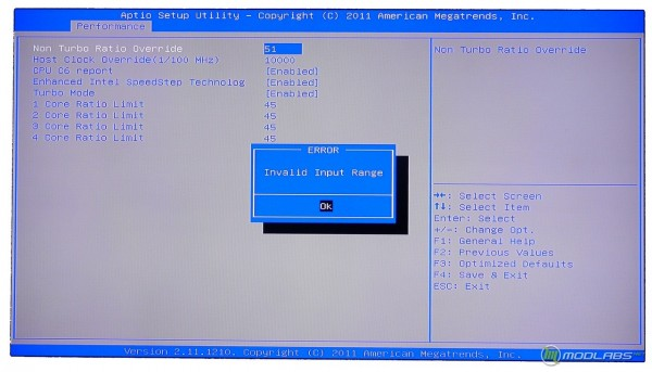 Обзор Sapphire Pure Black P67 Hydra - настройка разгона процессора в BIOS материнской платы