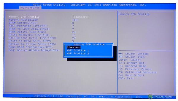Обзор Sapphire Pure Black P67 Hydra - настройка разгона памяти в BIOS материнской платы