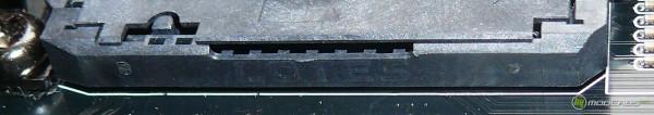 Обзор Sapphire Pure Black P67 Hydra - надпись на боку сокета. Сокет производства LOTES. LOTES socket