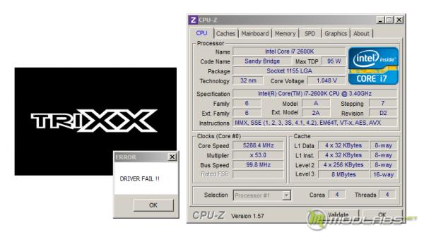Обзор Sapphire Pure Black P67 Hydra - утилита TRIXX, попытка покорить 5400МГц, после перезагрузки