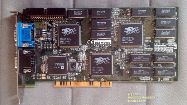 DIAMOND MONSTER 3D II 12MB Rev B 100MHz - Made in Taiwan - 3498