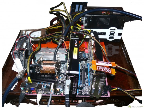 Тестовый стенд  на Sapphire Pure Black P67 Hydra: GeForce GTX470   Radeon HD5850