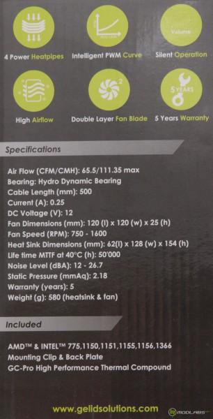 Кулер GELID Tranquillo rev. 4, коробка, описание характеристик
