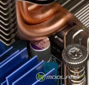 Кулер GELID Tranquillo rev. 4, контакт тепловой трубки с конденсатором на материнской плате