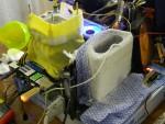Тестовый стенд с жизким азотом