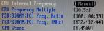 CPU settings FSB 100