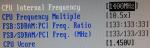 CPU settings FSB 133